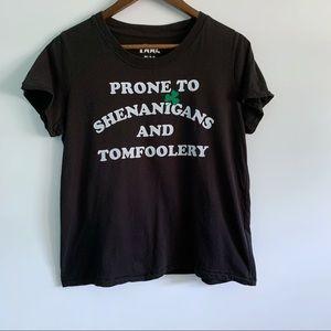 Doe Women's Black Graphic T-Shirt